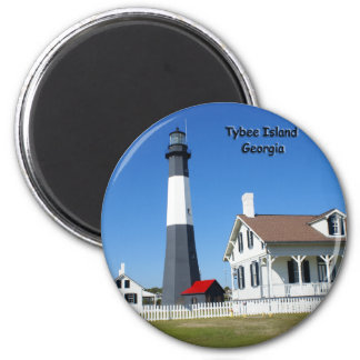 Tybee Island Lighthouse 6 Cm Round Magnet