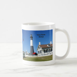 Tybee Island Lighthouse Basic White Mug