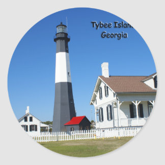 Tybee Island Lighthouse Round Sticker