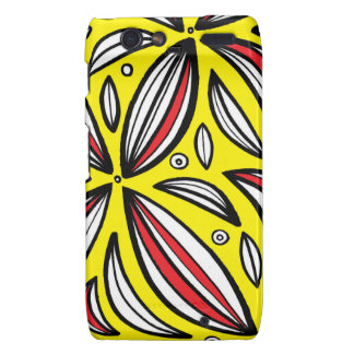 Tyburski Abstract Expression Yellow Red Black Droid RAZR Covers
