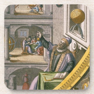 Tycho Brahe (1546-1601) aged 40, amongst his astro Beverage Coasters