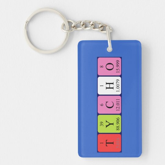 Tycho periodic table name keyring