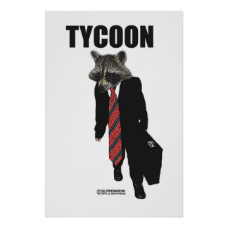 Tycoon with briefcase poster