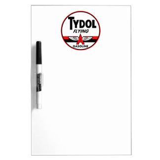 Tydol Flying Gasoline vintage sign Dry Erase Whiteboards