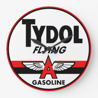 Tydol Flying Gasoline vintage sign Wall Clock