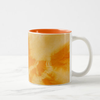 Tye Dye Composition #4 by Michael Moffa Two-Tone Mug