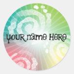 Tye-Dye Design Round Stickers