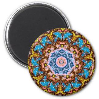tye dye mushrooms 4 6 cm round magnet