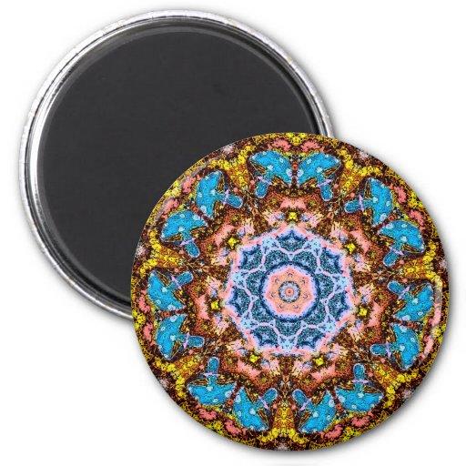 tye dye mushrooms 4 magnets