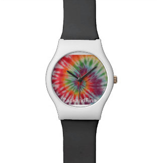 Tye dye print watch designer