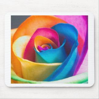 Tye Dye single rose Mouse Mat