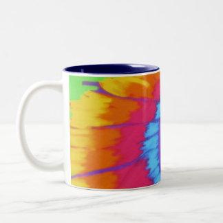 tye dye Two-Tone mug