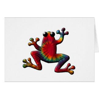 Tye Dyed Frog Greeting Card