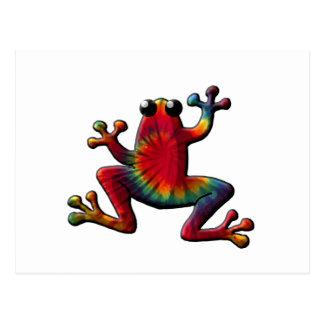 Tye Dyed Frog Postcard