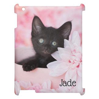 Tye Kitten Pink Floral iPad Cover