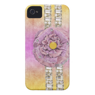 TyeDye Flower Rhinestone IPhone barely there Case iPhone 4 Covers