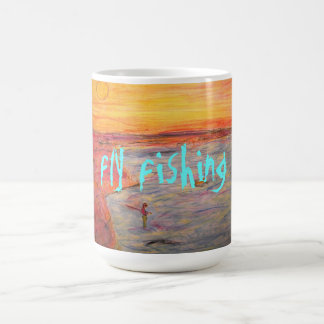 tying one on (fly fishing) basic white mug