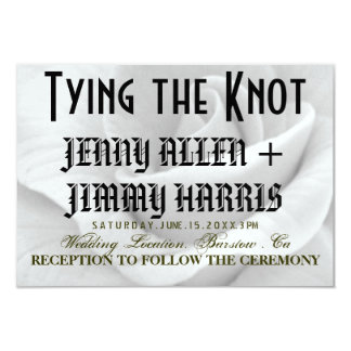 Tying The Knot 9 Cm X 13 Cm Invitation Card