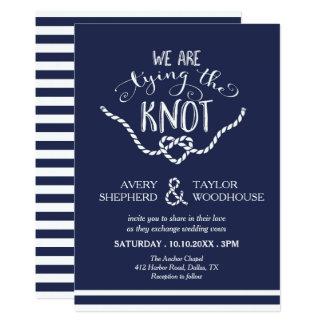Tying the Knot Calligraphy Wedding 13 Cm X 18 Cm Invitation Card
