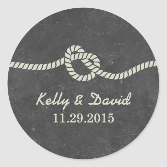 Tying the Knot Chalkboard Wedding Favour Stickers