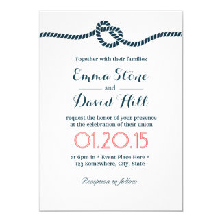 Tying the Knot Elegant Minimalist Wedding Card