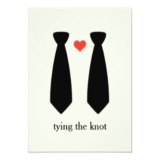 Tying the knot Gay Wedding Invitation