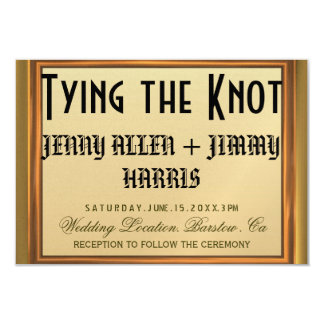 Tying The Knot Announcements