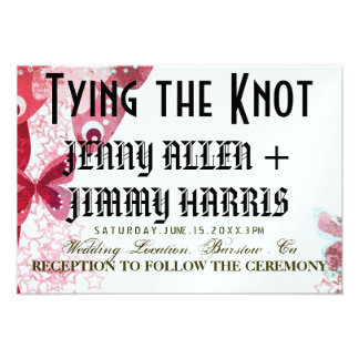 Tying The Knot Personalized Invitations