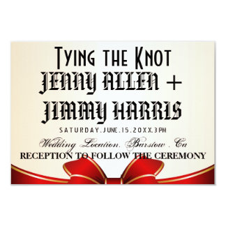 "Tying The Knot 3.5"" X 5"" Invitation Card"