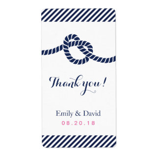 Tying the Knot Nautical Wedding Wine Labels