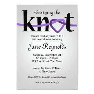 Tying The Knot (PUR) Wedding Shower Invitation
