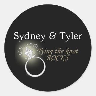 Tying the Knot Rocks Round Sticker