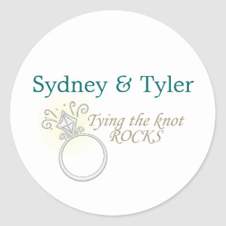 Tying the Knot Rocks Stickers
