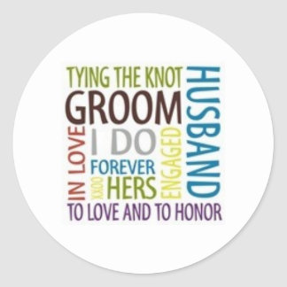Tying The Knot Round Sticker