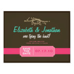 Tying the Knot Save the Date Announcement 11 Cm X 14 Cm Invitation Card
