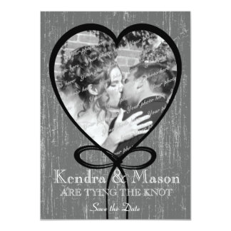 """Tying the Knot Save the Date 4.5"""" X 6.25"""" Invitation Card"""