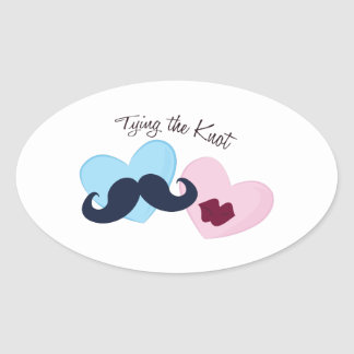 Tying the Knot Oval Sticker