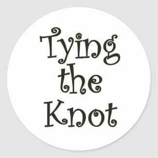 Tying the knot round stickers