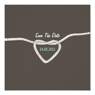 Tying the Knot Wedding Save the Date 13 Cm X 13 Cm Square Invitation Card
