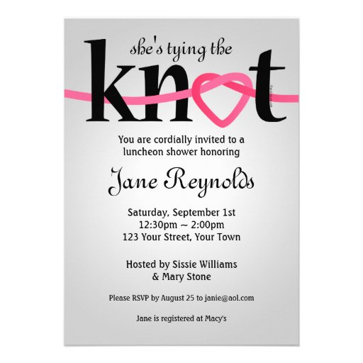 Tying The Knot Wedding Shower Invitation