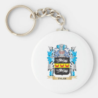 Tyler Coat of Arms - Family Crest Basic Round Button Key Ring