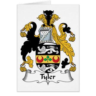 Tyler Family Crest Card