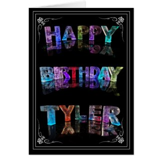 Tyler - Name in Lights greeting card (Photo)