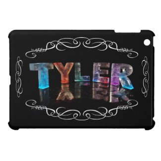 Tyler - The Name Tyler in 3D Lights (Photograph) iPad Mini Cases