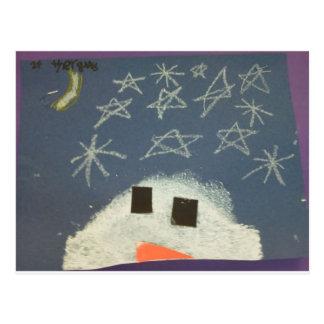 Tyler's Snowman Postcard