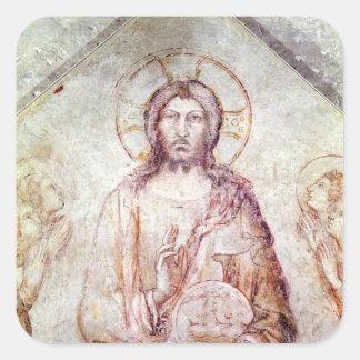 Tympanum depicting the Saviour Blessing, 1341 Square Sticker