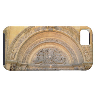 Tympanum of the porch depicting Christ in Majesty iPhone 5 Cover