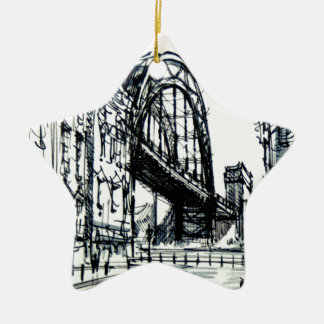 Tyne Bridge Dene Street Christmas Ornament