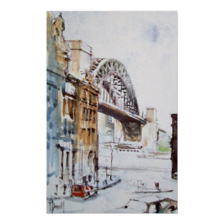 Tyne Bridge From Dean Street Print