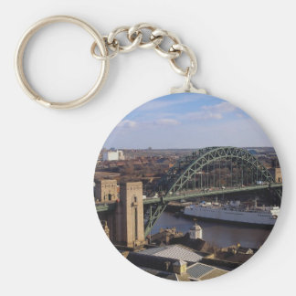 Tyne Bridge looking towards Gateshead, Newcastle, Basic Round Button Key Ring